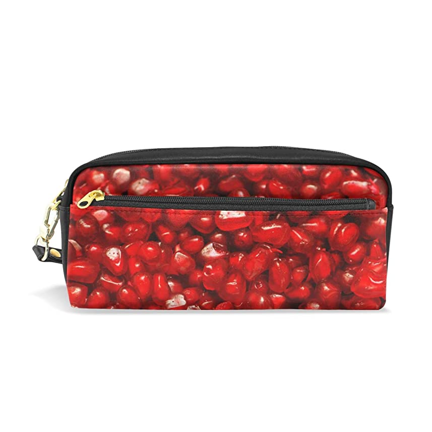 すみません疎外する輝くAOMOKI ペンケース 小物入り 多機能バッグ ペンポーチ 化粧ポーチ 男女兼用 ギフト プレゼント おしゃれ ザクロ 果物
