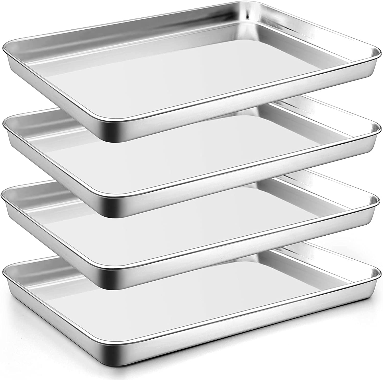 16 Inch excellence Stainless Steel Baking Sheets 4 Baltimore Mall CHEF Set PP of