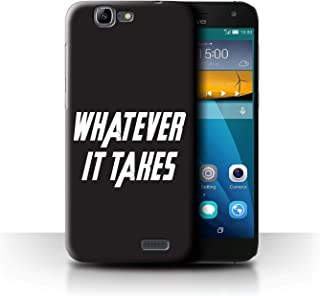 Phone Case for Huawei Ascend G7 Superhero Movie Quotes Art Whatever It Takes Design Transparent Clear Ultra Slim Thin Hard Back Cover