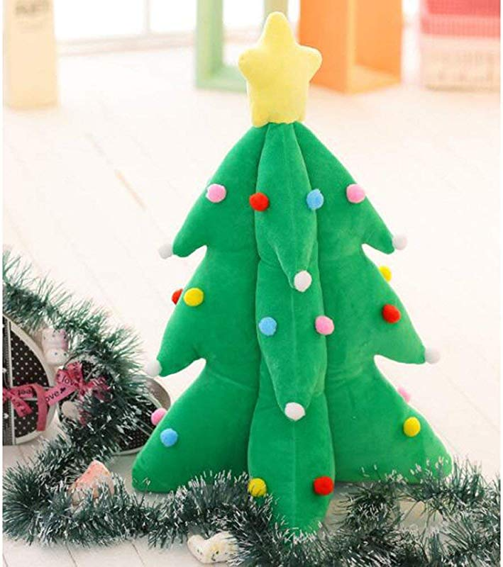 MENILITHS 12 99 Christmas Tree Shape Plush Toy Christmas Decoration Stuffed Pillow Cushion