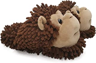 Image of Black or Brown Monkey Slippers for Women