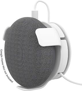 AhaStyle Google Home Mini 壁掛け ホルダー グーグルホームミニ アクセサリー スピーカー スタンド マウント 保護ホルダー コード収納 (白)