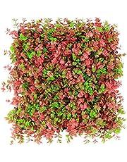 ULAND フェイクグリーン 壁面グリーン 人工植物 マット ミックスリーフ 造花 グラス リーフフェンス 壁面緑化 壁掛け 店舗装飾 ウォール グリーン