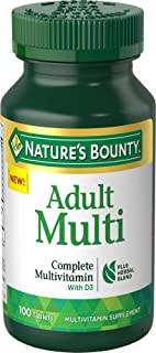 Nature's Bounty Adult Complete Multivitamin Plus Vitamin D3, 100 Tablets