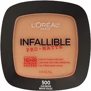 L'Oreal Paris Infallible Pro-Matte Powder, Sun Beige [500] 0.31 oz