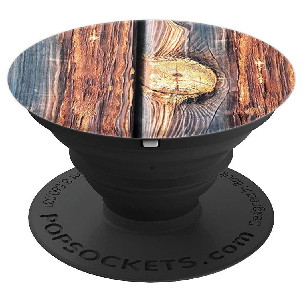 Wood Style Grain Boards Mountains Nature Hiking Pop Mount - PopSockets Grip and Stand for Phones and Tablets