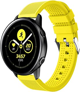 ★Auppova★Galaxy Watch Active Band, Sport Soft Silicone Replacement Wristband Women Men Compatible for Samsung Galaxy Watch Active - [12 Colors Available]
