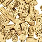 CODIRATO 100 PCS Corchos de Vino Tapones de Botella Natural Corcho Natural de Madera Corcho para Manualidades para Vino Tinto y Decoración de Muebles de Bricolaje (21*4MM)