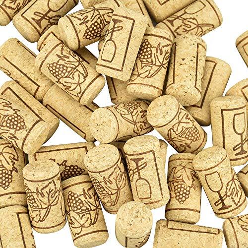 CODIRATO - 100 tappi di sughero per bottiglie di vino, per bricolage, fai da te e decorazioni, 21 x 40 mm