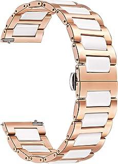 TRUMiRR 18 mm keramiskt klockarmband snabbfrigöringsrem alla länkar avtagbara för Huawei Watch, Huawei Fit Honor S1, Asus ...