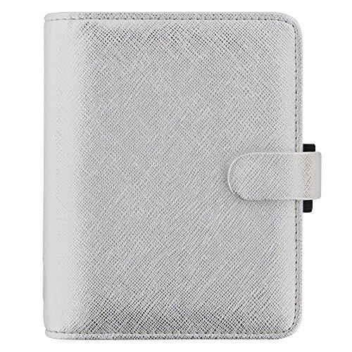 Filofax Pocket Saffiano Metallic Silver Organizer