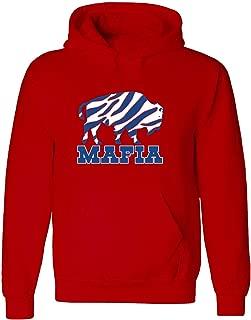 RED Buffalo Allen Zubaz Mafia Hooded Sweatshirt