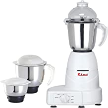 Rico 750W Mixer Grinder with Powerful Motor and 3 Jar , white