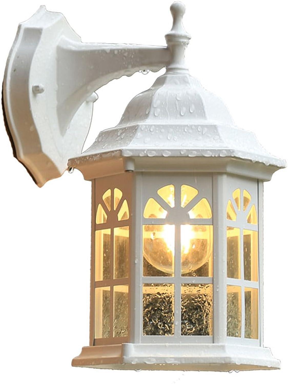 MDBLYJWandlampe Europische im Freien wasserdichte Korridorgang-Wandlampe des im Freienportorale-Balkons des im Freien Lampe