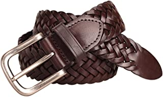 حزام جلدي مصنوع يدويًا من الجلد الطبيعي. حزام جلد رجالي. أحزمة رجالي منسوجة حزام جلد ذيل مشبك