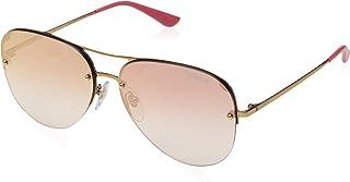 VOGUE Women's 0VO4080S 50756F 58 Sunglasses, Light Pink Gold/Gradientpinkmirrorpink