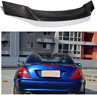 Gloss Black Rear Spoiler Splitter Bumper 7 Fins Shark 85.5cm For Models SL SLC SLK Class Compatible With Mercedes
