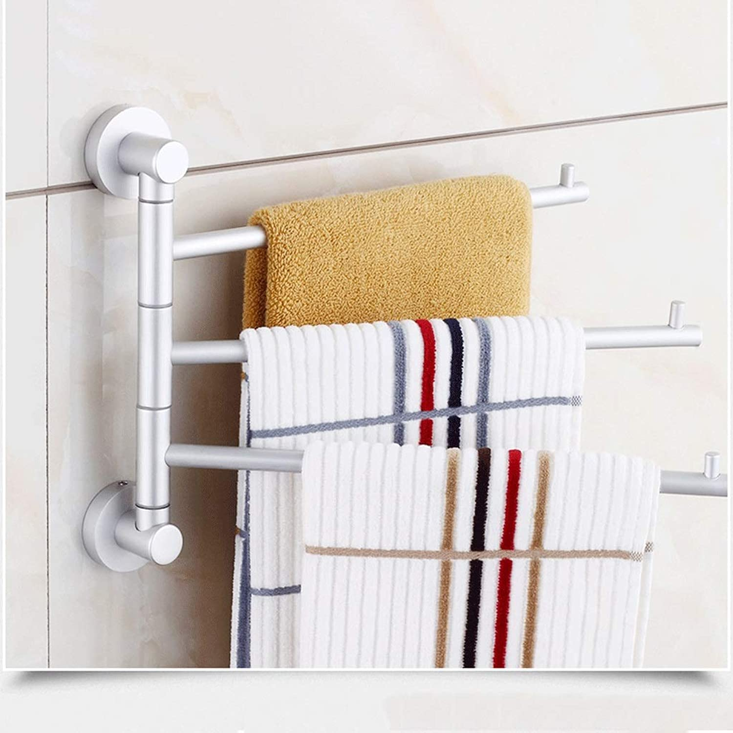 Bathroom Self-Adhesive Towel Rack Space Aluminum Alloy Multi-Function Thickening redating Towel Bar Hang Shelf (color   Deluxe Version 4 Poles)