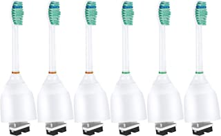 Sierra Clean Standard Size Replacement Toothbrush Heads for Philips Sonicare e-Series HX7022, 6 pack, fits Sonicare Advance, CleanCare, Elite, Essence and Xtreme Philips Brush Handles
