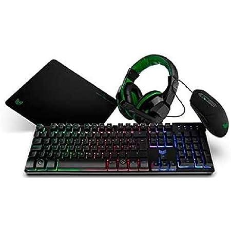 BG X-4 - BGX4PCK - Gaming Setup, Teclado, Auriculares con micrófono, Ratón, Alfombrilla