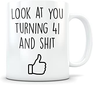 41st Birthday Gift for Women and Men - Turning 41 Years Old Happy Bday Coffee Mug - Funny Gag Party Cup Idea as a Joke Celebration - Best Adult Birthday Presents