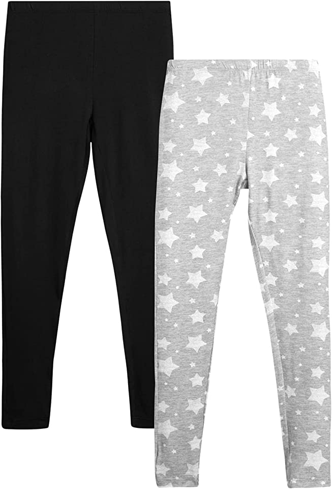 Only Girls Butter-Soft-Touch Printed Yummy Leggings (2-Pack)