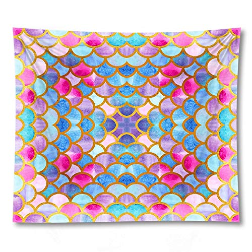 PPOU Colorful geometric tapestry wall hanging cloth home wall decoration background cloth tapestry cloth blanket A8 130x150cm