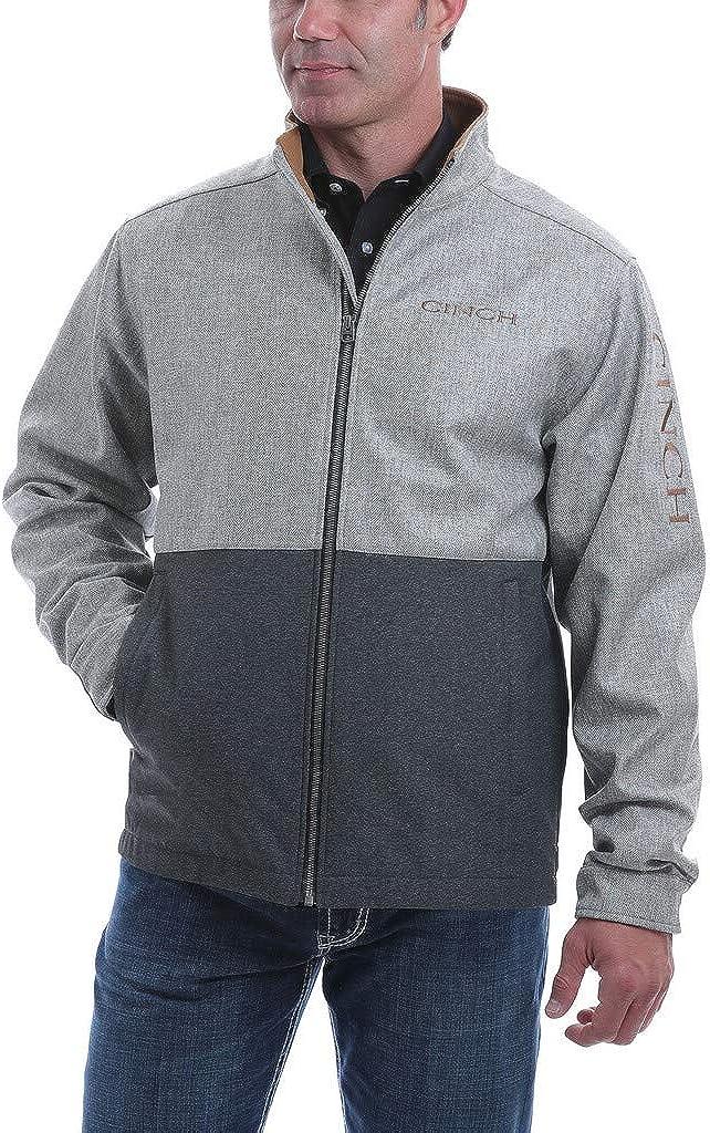 Cinch Men's Multi Color Blocked Textured Bonded Jacket