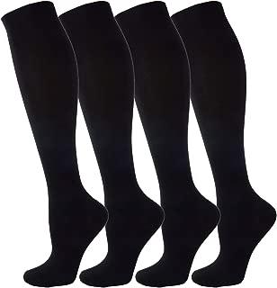 NOVAYARD Compression Socks for Men & Women Graduated 15-20 mmHg (4 Pairs)