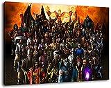 Dark Mortal Kombat Format 60x40 cmfertig gerahmte