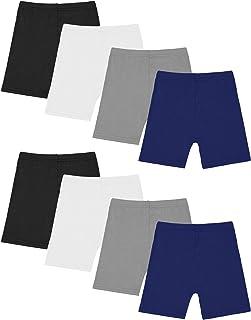 Resinta 8 Pack Black Dance Shorts Girls Bike Short Breathable and Safety 8 Color