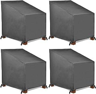 color negro 85 x 75 x 65 x 120 cm Funda para silla apilable Ready Garden