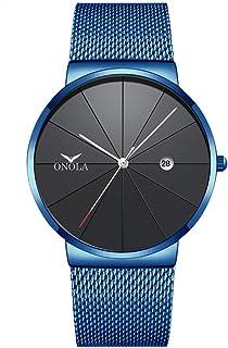 ساعة يد رجالي كوارتز 3804 من كول آر سي بسوار فولاذي عصري متعدد الوظائف 3ATM تقويم عرض التاريخ