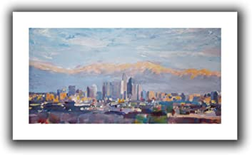 ArtWall Martina and Markus Bleichner 'Los Angeles Sierra Nevada' Unwrapped Flat Canvas Artwork, 16 by 28-Inch