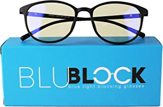 Unisex Blue Light Blocking Glasses - Anti-Blue Filter Eyeglass for Men and Women - Stylish Eyewear Comfortable Eye Protection for UV Glare - Perfect for Laptop, Computer or Cellphone | by BluBlock