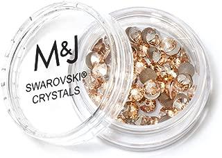 Swarovski Crystals Flat Back Rhinestones - 2088 Xirius Rose Round Foil Backed - SS16 (3.8mm-4mm) - Crystal Golden Shadow 001 GSHA (Gold)