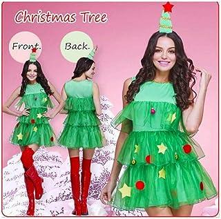 935ddf5e16 KAIDILA Costume di Natale Albero di Natale Gioco Albero di Natale Verde Costume  Costume da Elfo