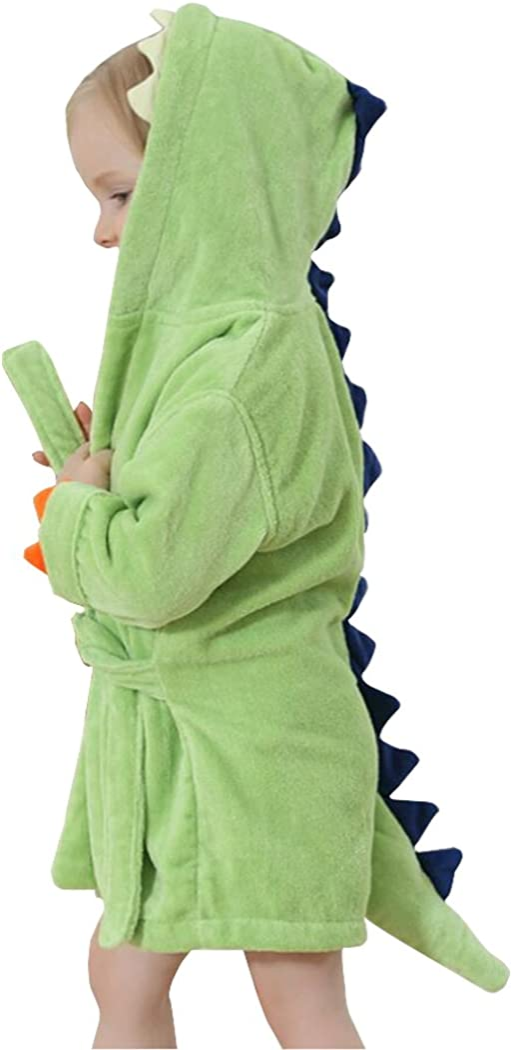 Kids Bath Robe Toddler Cotton Towel Bathr 55% OFF Dinosaur Be super welcome Animal Hooded