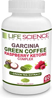 The Original 4-in-1 Garcinia Cambogia, Green Coffee Bean, Raspberry Ketones & Green Tea Extract 1300mg Dr. Recommended for...