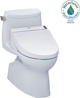 TOTO MW6142044CUFG#01 WASHLET+ Carlyle II 1G One-Piece Elongated 1.0 GPF Toilet and WASHLET C200 Bidet Seat, Cotton White