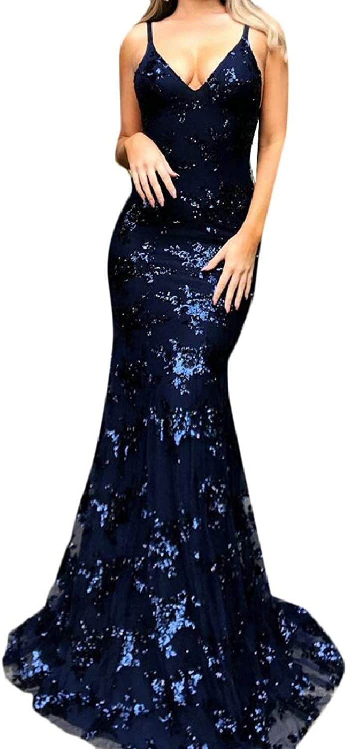 Xswsy XGCA Women's Long Evening Dresses V Neck Open Back Formal Prom Gowns