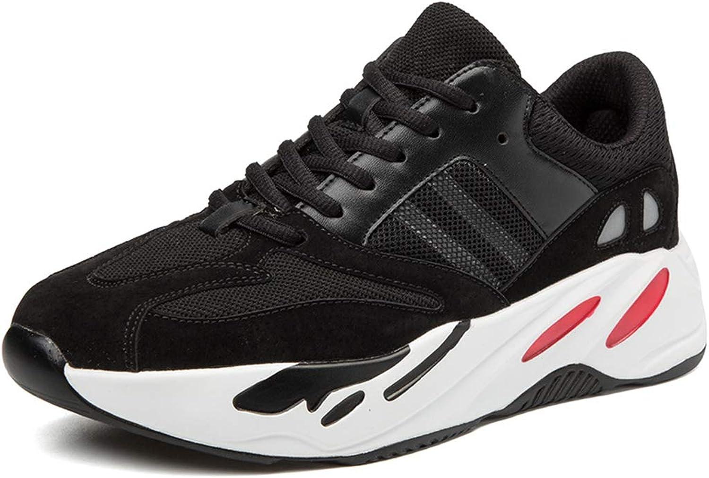 ZPWY Athletische leichte beilufige Ineinander greifen-gehende Schuhe der Frauen Breathable Ineinander greifen-Art- und Weisepersnlichkeit-laufende Turnschuhe, schwarz-38