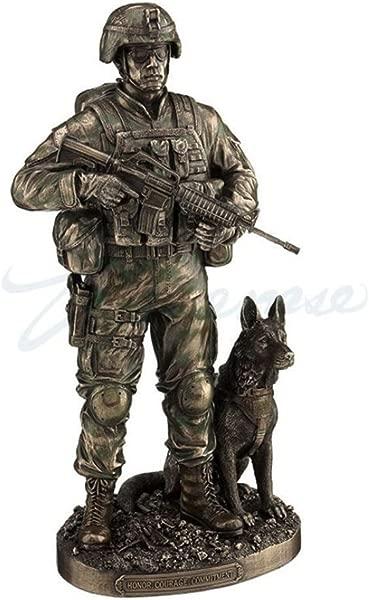 美国陆军士兵和狗雕像荣誉勇气承诺雕像