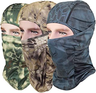 GANWAY Pack of 3 Outdoor Accessories Hat Hunting Fishing Cap Camouflage Balaclava Sun Motorcycle Face Mask