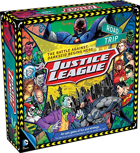 Aquarius DC Comics Justice League of America Road Trip Brettspiel