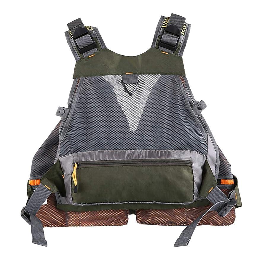 引用コンパイルマーケティングFenteer プロ フィッシングベスト 釣りジャケット 調節可能 水作業 漂流 釣り道具