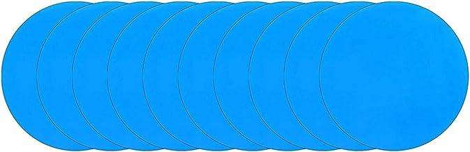 Shumu 10/20pcs Ronda Autoadhesivo PVC Reparación Parches Vinilo Piscina Liner Parche Barco Reparación de Goma de Vinilo para Barco Inflable Balsa
