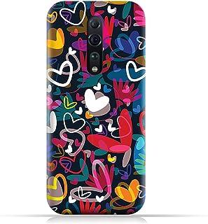 AMC DesignOPPO Reno Z TPU Silicone Soft Protective Case with Hearts Illustrations Pattern