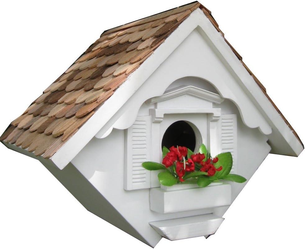 Home Bazaar Hand-made Little Wren White Bird House - Hanging Bird House - Home Decor