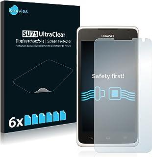 savvies Protector Pantalla Compatible con Huawei Ascend Y530 (6 Unidades) Pelicula Ultra Transparente